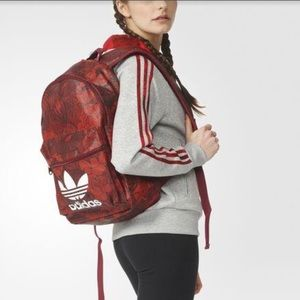 adidas Bags - Adidas Originals Red Floral Backpack c93d4b9a77bf0